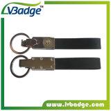 로고 열쇠 고리를 가진 주문을 받아서 만들어진 가죽 차 열쇠 고리