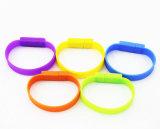 Azionamento variopinto della penna del USB del Wristband del PVC del braccialetto