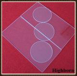 Surtidor modificado para requisitos particulares cuadrado polaco claro de la placa de cristal de cuarzo de la silicona