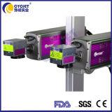 관을%s 2개의 헤드를 가진 Cycjet 이산화탄소 섬유 Laser 표하기 기계
