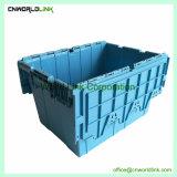60L Security Fixe a tampa de plástico de armazenamento Tote para mover
