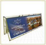 Для использования вне помещений виниловом баннере входа в раме стойки крупноформатного дисплея (80*200 см)