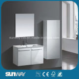 Neue doppelte Wannen-an der Wand befestigte Badezimmer-Eitelkeit stellte mit Spiegel ein