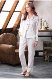Все права защищены Дизайн Nightwear женских Sexy шелковые пижамы футболки и брюки