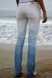 Filetto mercerizzato del cotone per usura lavorata a maglia usura dei jeans della tintura dell'alberino della tintura di goccia della tintura dell'indumento pronta per il cotone lungo della graffetta del cotone della tintura (1006)