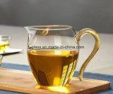 Taza de té de cristal de Pyrex Handemade con la maneta de cristal importada