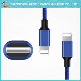 2m 나일론 iPhone 5/5s/5c/Se iPhone 6/6s/Plus를 위한 땋는 USB 3.1 유형 C 케이블