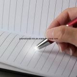 Stylo à bille stylo en aluminium avec éclairage LED