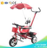 3つの車輪のバイクのおもちゃの赤ん坊の三輪車/ベビーカーの赤ん坊の手押車の三輪車/子供の子供の三輪車