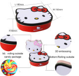 Kitty Design Stackable Display Tin Box with Removable Lid Jy-Wd-2015121402