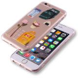 Claro patrón de teléfono celular móvil de la cubierta del teléfono