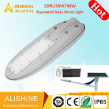 Alta potência de 30W 50W 60W 80W Piscina Split separados Rua Solar de LED de luz com marcação RoHS aprovado