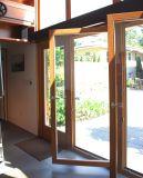 Porte vers l'intérieur K06027 d'inclinaison et de spire de profil en bois en aluminium de qualité