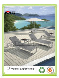 La vente de la plage de plein air chaud en acier inoxydable Furnitur Transats Armless