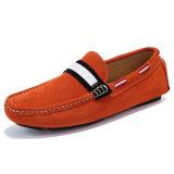 Pattino di azionamento degli uomini delle calzature del commercio all'ingrosso del fannullone di modo dei pattini di cuoio (AK9007)
