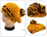 Soem-neuer Entwurf stricken Dame-eleganten Barett-Großverkauf mit der Hand