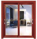 Un bâtiment de style appartement aluminium Double porte coulissante en verre trempé