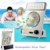100% Sonnenenergie Gleichstrom-Solarventilator mit LED-heller Solarleselampe mit Solarventilator