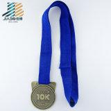 Médaille de passage en métal d'or d'antiquité de prix usine de la Chine avec le logo fait sur commande