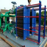 Erschöpfter Wasser-Dampf-Wärmetauscher für Marinewasser-Kühlvorrichtung-Platten-Typen Wärmetauscher