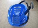 (Yard-B7 45L) Plastic Shopping Basket met Wheels met Factory Sale
