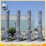 Pierre colonnes décoratifs sculptés à la main les colonnes de Dragon