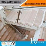 Acier inoxydable et d'une balustrade en bois de rampe d'Escalier/la main courante
