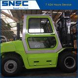 Chariot élévateur diesel 5tons de qualité de Snsc de mentons avec la cabine