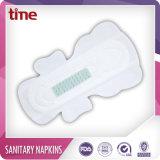 Garniture sanitaire de serviette hygiénique respirable bon marché de coton