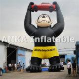 Gorilla vivace di pubblicità gonfiabile della replica