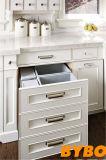 Gabinete de cozinha lustroso elevado padrão do revestimento (3D-W800)