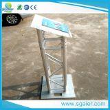 Алюминиевый аналой ферменной конструкции, акриловый подиум аналоя