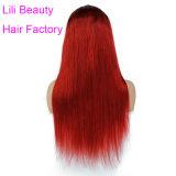 Parrucche brasiliane rosse diritte del merletto dei capelli di modo di Ombre del merletto di bellezza di Lili della parrucca delle parrucche piene dei capelli umani per le donne di colore