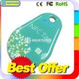 13.56MHz NFC NTAG213 Smart Llavero RFID Keyfobs epoxi