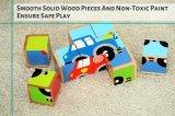Hochwertiges hölzernes Fahrzeug-Block-Puzzlespiel (6 in 1)