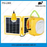 Mini lanterna 4500mAh/6V solar qualificada com o carregador do telefone móvel e bulbo para o quarto (PS-L069)
