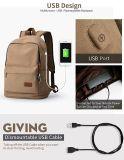 Upoalker Segeltuch-Rucksack mit USB-aufladenkanal für Schule Bookbag Arbeitsweg Daypack für Sitze bis zum 15.6 Zoll-Laptop (WDB0034)