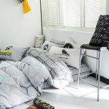 Großhandelsbettwäsche-gesetzte Baumwollmoderne Blatt-Sets billig 100%