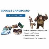 Горячая продажа складные Vr Google картон V3.0 с пользовательскими печать для смартфонов