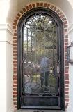 Дверь входа утюга роскошной славной изготовленный на заказ обеспеченностью одиночная с стеклом