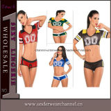 Adulto Cosplay Sexy European Cup Football Cheerleader Jersey Costume (TLQZ7065)