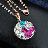 女性Mikeyデザイン金のMilticolorの石の宝石類セット