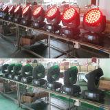 36X18W 6in1 RGBWA + UV Zoom Faisceau Wash Mini LED Moving Head Light