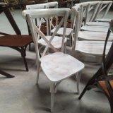 現代強いスタック可能木X十字の背部椅子