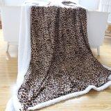 La impresión de leopardo silvestre invierno gruesa Manta de felpa Micro lanzar Guangzhou Proveedor