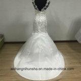 Шнурок мантии сексуального Mermaid способа Bridal Sleeves платье венчания застежки -молнии