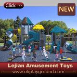 Oscilación y diapositiva plásticos al aire libre del patio para la escuela (X1503-2)