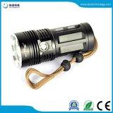 18650電池再充電可能な4LED T6の懐中電燈