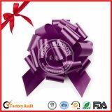 Arqueamiento púrpura del tirón del POM-POM para el empaquetado del regalo de cumpleaños