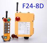commutateur 24V/12V à télécommande avec l'émetteur 2 avec 1 récepteur Telecrane F24-8d-2tx à télécommande pour la grue de Sany, grue de XCMG, grue de Tadano, grue de Demag